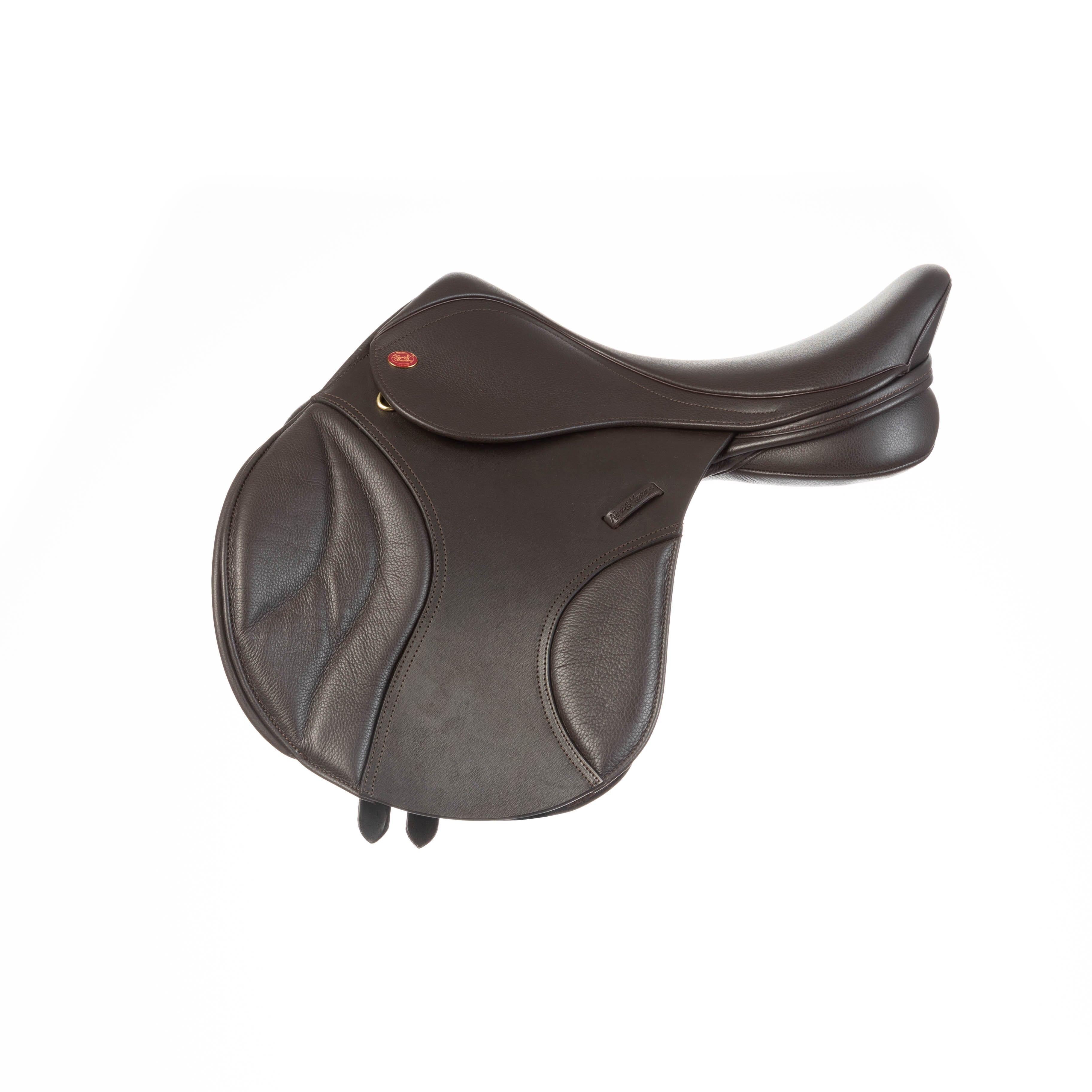 Kent /& Masters Jumping Saddle Leather Knee Blocks Black Or Brown